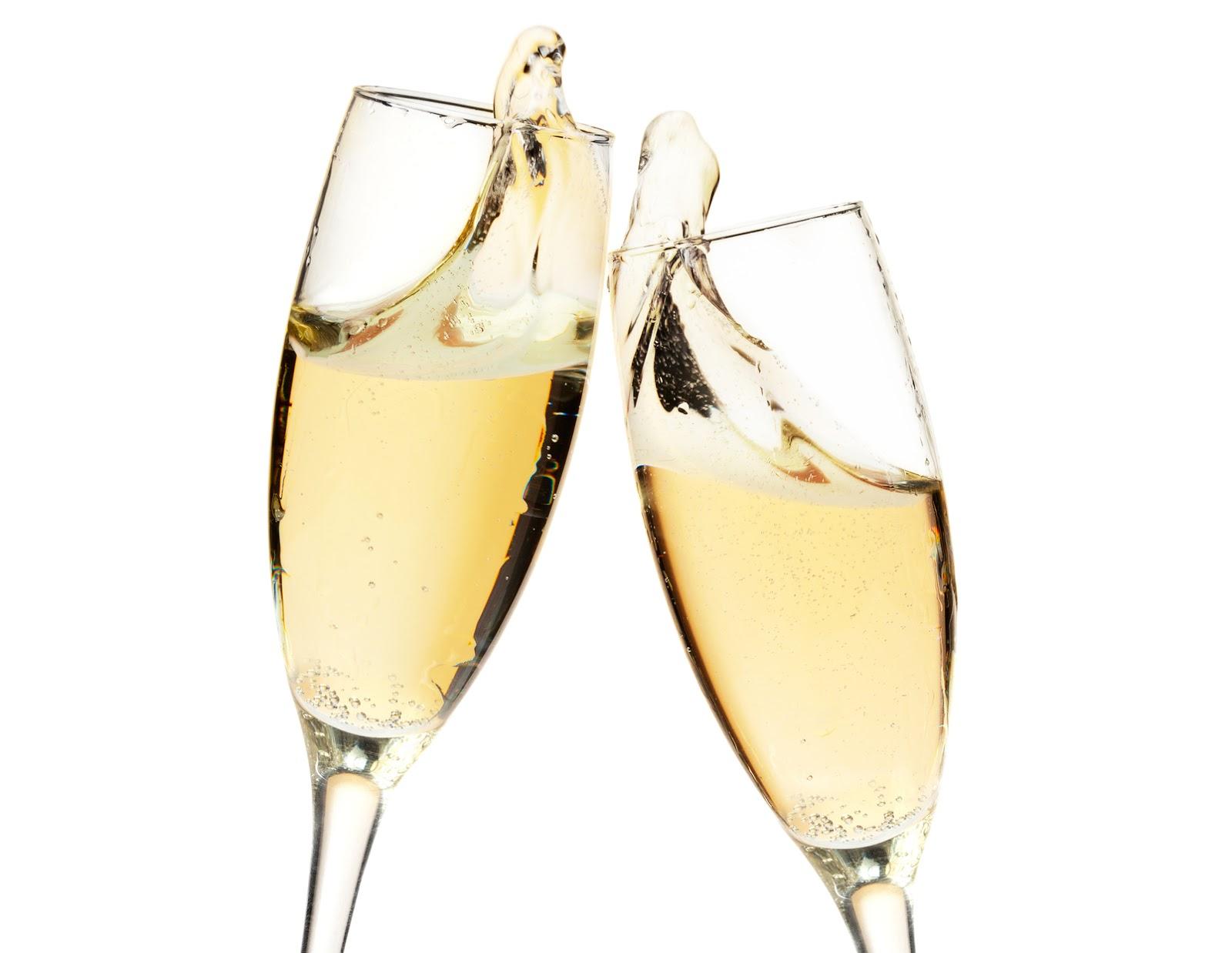 champagne met glazen